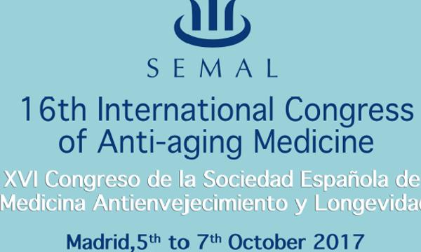 XVI CONGRESO DE LA SOCIEDAD ESPAÑOLA DE MEDICINA ANTIENVEJECIMIENTO Y LONGEVIDAD